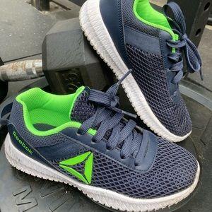 Little boys blue Reebok shoes size 2